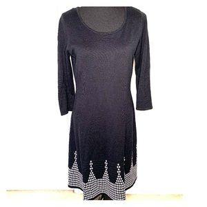 Nine West Black and White Sweater Dress